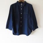 MHL.:インディゴコットンシャツ