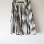 MARGARET HOWELL:コットンストライプフレアロングスカート