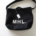 MHL. / マーガレットハウエル WOOL CANVAS BAG 2way BLK
